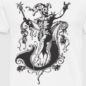 Evil medieval CLOWN - Men's Premium T-Shirt