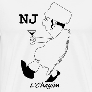 A funny map of New Jersey 3 - Men's Premium T-Shirt