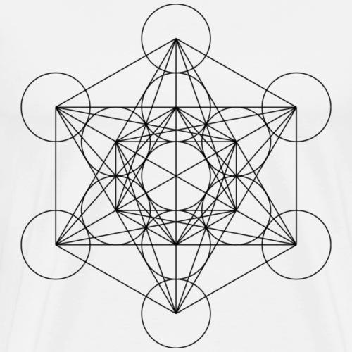 Metatron's Cube Sacred Geometry - Men's Premium T-Shirt