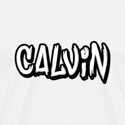 Calvin Text Logo - Men's Premium T-Shirt