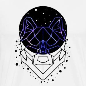 GEOMETRIC WOLF - T-shirt premium pour hommes