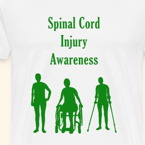 Spinal Cord Injury Awareness - Green - Men's Premium T-Shirt