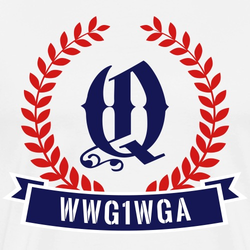 WWG1WGA Q Badge V2 - Men's Premium T-Shirt