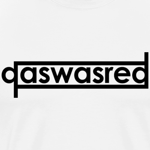qaswasred text logo - Men's Premium T-Shirt