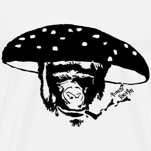 Smokin' Monkey Mushroom - Fungi Faction - Men's Premium T-Shirt