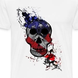 skull with blood usa - Men's Premium T-Shirt