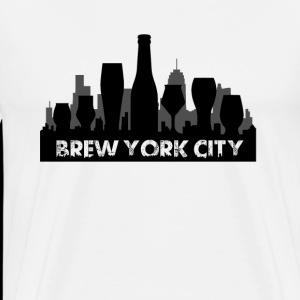 Brew York City - Beer Town - Men's Premium T-Shirt