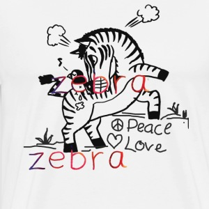 Zebra Love Shirt - Men's Premium T-Shirt