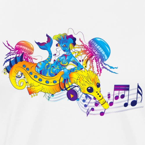 Music Mermaid - Men's Premium T-Shirt