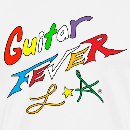 GUITAR FEVER LOGO: RAINBOW - Men's Premium T-Shirt