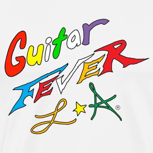 GUITAR FEVER LOGO: RAINBOW - Men's Premium T-Shirt