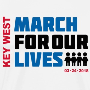 March For Our Lives Key West For White Shirt - Men's Premium T-Shirt
