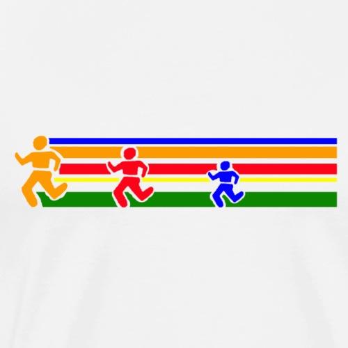 Runner Lines - Men's Premium T-Shirt