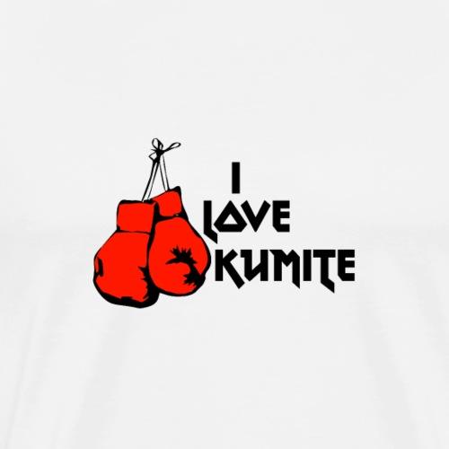 Kumite red Gloves - Men's Premium T-Shirt