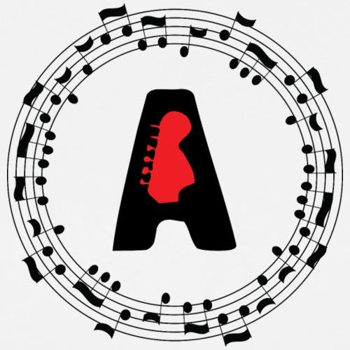 Musical Monogram A - Men's Premium T-Shirt