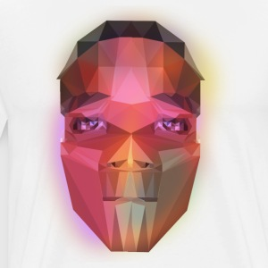 low poly face - Men's Premium T-Shirt