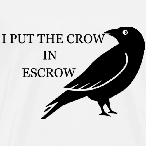 escrow crow - Men's Premium T-Shirt