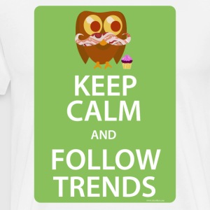 Keep Calm Trendy Bacon Owl - Men's Premium T-Shirt