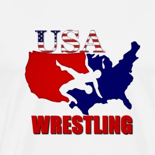 USA Wrestling - Men's Premium T-Shirt