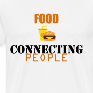 Food Connecting People - Men's Premium T-Shirt