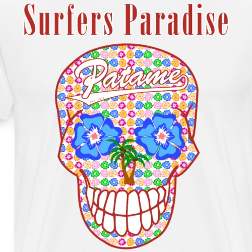 Patame Surfers Paradise Skull Red - Men's Premium T-Shirt