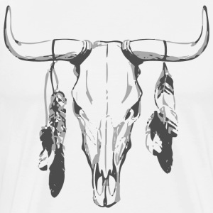 Bull skull feathers - Men's Premium T-Shirt