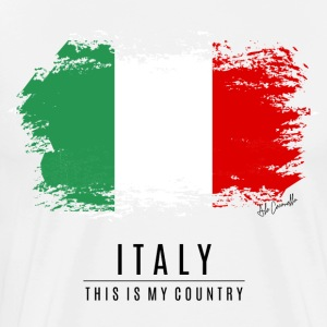 ITALY FLAG - THIS IS MY COUNTRY - Men's Premium T-Shirt