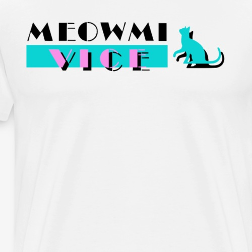 Funny Cats Meowmi Vice 80s Tee Shirt by Bestees - Men's Premium T-Shirt