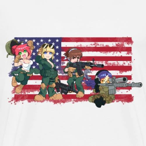 Column Crew - Patriotic - Men's Premium T-Shirt