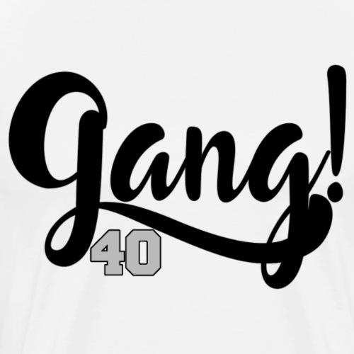 Gang 40 - Black/Grey - Men's Premium T-Shirt