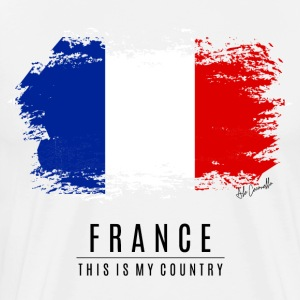 FRANCE FLAG - THIS IS MY COUNTRY - Men's Premium T-Shirt