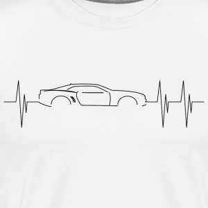 5th Generation Camaro Heart Beat - Men's Premium T-Shirt