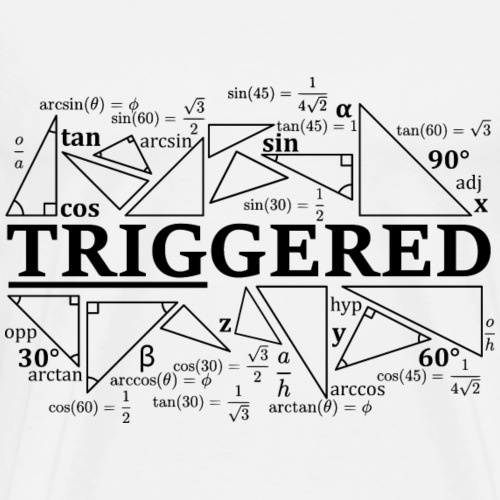 Trigonometry Triggered - Men's Premium T-Shirt