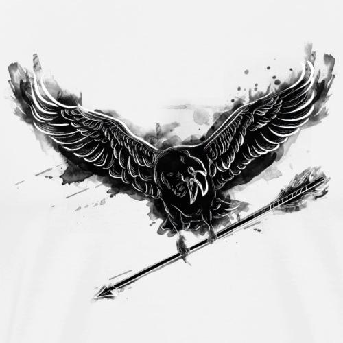 The Harbinger – Black (Archery by BOWTIQUE) - Men's Premium T-Shirt