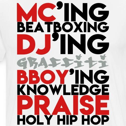 Pillars of Holy Hip Hop - Men's Premium T-Shirt