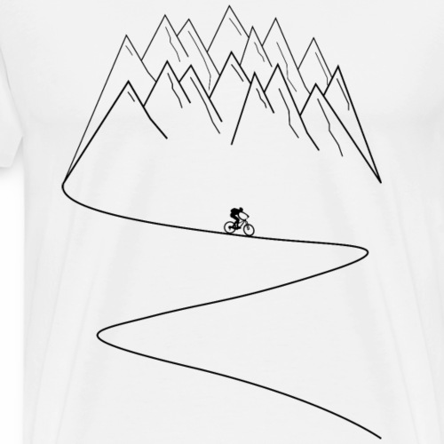 mountain biking mtb cycling - Men's Premium T-Shirt