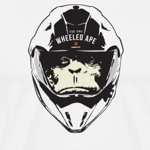 The Two Wheeled Ape Big Head Design - Men's Premium T-Shirt