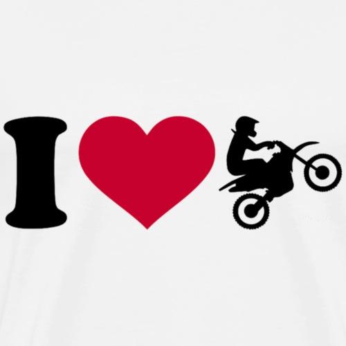 I love motocross - Men's Premium T-Shirt