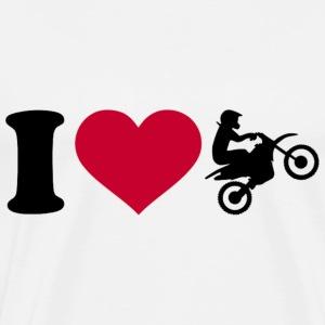 I love motocross - T-shirt premium pour hommes