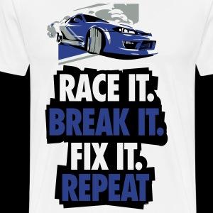 Race it Break it Fix it Repeat - Men's Premium T-Shirt