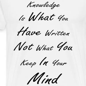 Knowledge - Men's Premium T-Shirt