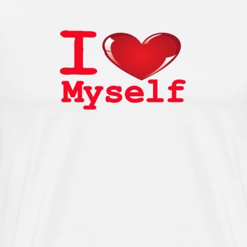i Love Myself -Red- Best Selling Design - Men's Premium T-Shirt