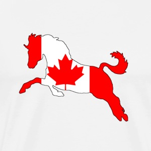 Canada Flag - Horse - Men's Premium T-Shirt