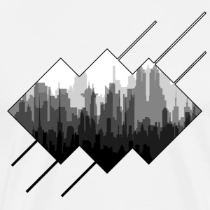 BLACK AND WHITE CITY - T-shirt premium pour hommes