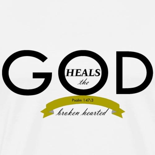 God Heals the Broken Hearted - Men's Premium T-Shirt