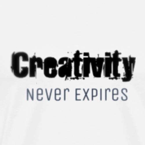 Creativity Never Expires Brand Tee - Men's Premium T-Shirt