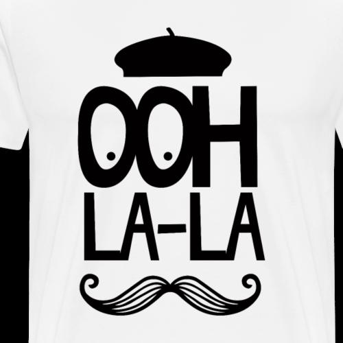 Ohh La La French Mustache - Men's Premium T-Shirt
