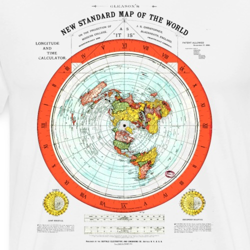 Flat Earth Map - Men's Premium T-Shirt