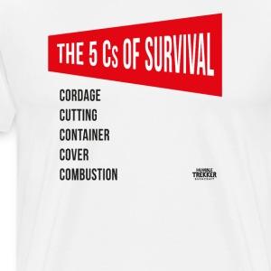 5Cs of Survival Red - Men's Premium T-Shirt