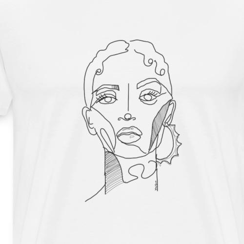 Baby Hairs and Hoops - Men's Premium T-Shirt